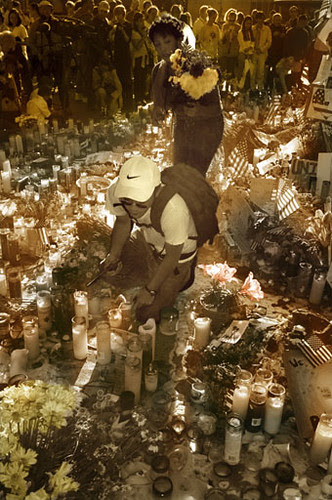 Floral Tributes in Union Square by September Mourning.