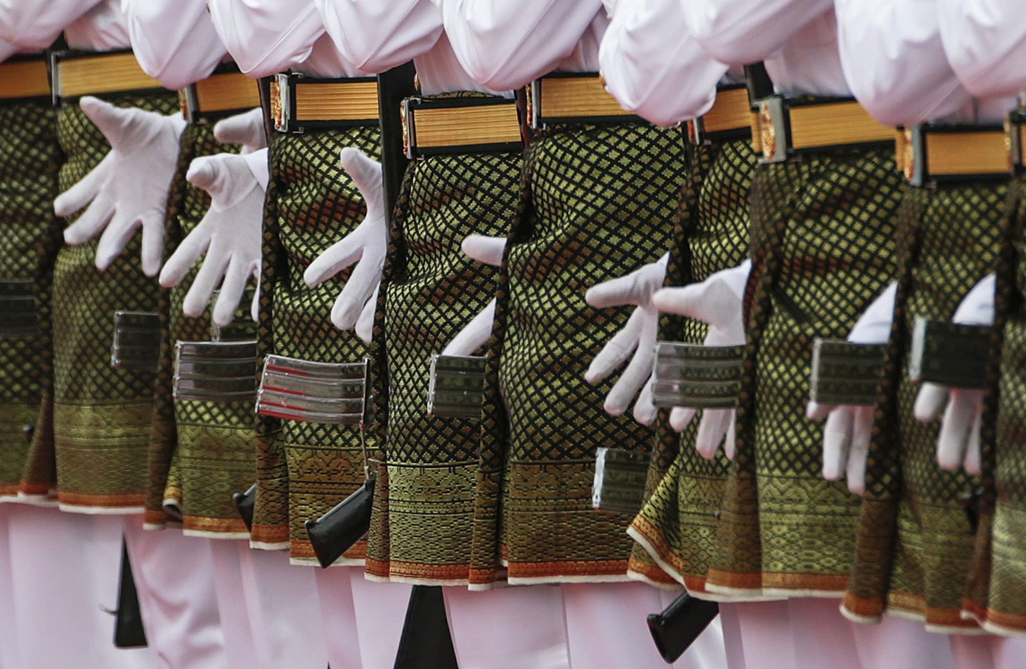 A close up of a Malaysian guard-of-honor during Islamic Republic of Iran President Dr. Hassan Rouhani's (not seen) welcoming ceremony in Putrajaya, Malaysia, 07 October 2016. Hassan Rouhani is on an official visit to Malaysia from 07 to 08 October 2016.  EPA/FAZRY ISMAIL
