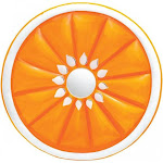 Kwik Tek 54-3007 Fruit Lounger - Orange - 62in. Diameter Deflated