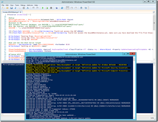 Working in the Datacenter – Keeping WSUS Happy using PowerShell