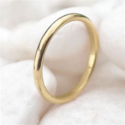 slim wedding ring, 18ct gold or platinum by lilia nash
