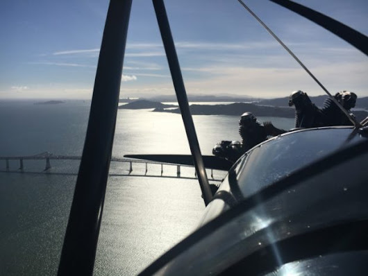 Biplane Ride Over San Francisco Bay and Sonoma
