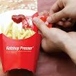 Ketchup Presser Cleverly Squeezes Out Ketchup onto the Fries Box Itself