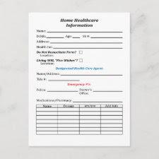 Home Healthcare Info Postcard postcard