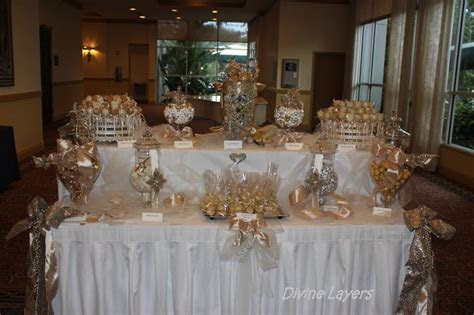 Stunning Gold Candy Buffet Display   Candy Buffet/Dessert