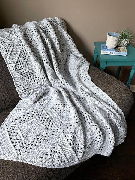Crochet Kit - On the Bias Granny Square Blanket