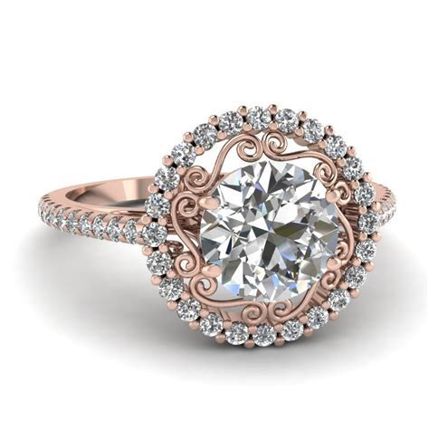 Shop Flower Engagement Rings Style   Fascinating Diamonds