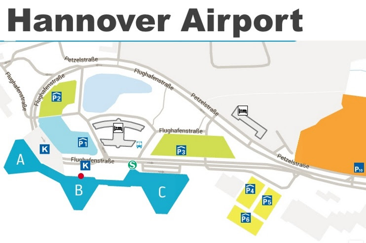 hannover airport map max