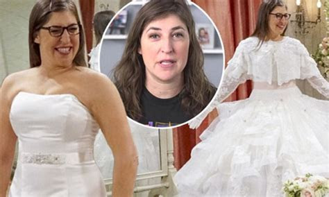 Mayim Bialik admits trying wedding dresses on for Big Bang