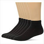 Hanes Men's X-Temp Comfort Cool Ankle 6-Pack, Black