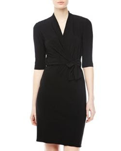 Tahari Self-Tie Wrap Dress