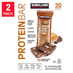 Kirkland Signature Protein Bars, Chocolate Peanut Butter Chunk - 2 pack, 20 count each