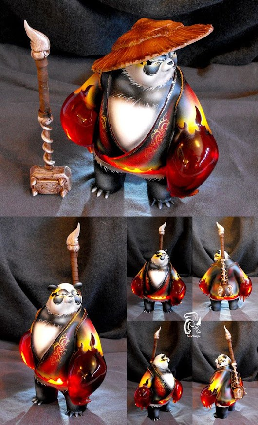 SpankyStokes.com | Vinyl Toys, Art, Culture, & Everything Inbetween: Fire King Panda by FullerDesigns... is AWESOME!