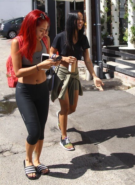 Karrueche Tran Stops By Kate Somerville
