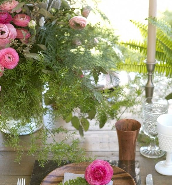 Aangilam garden party floral arrangements and table setting