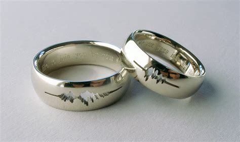 Sound Wave Wedding Rings     Uncommon Engagement