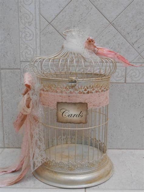 Birdcage Wedding Card Holder / Shabby Birdcage / Vintage
