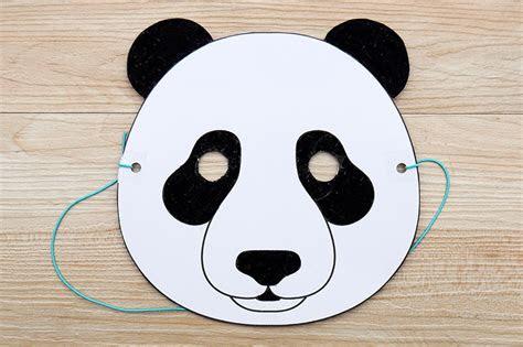 panda mask  printable templates coloring pages
