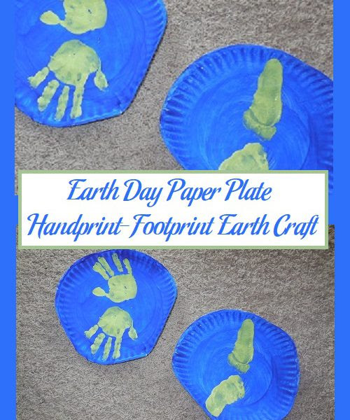 Earth Day Paper Plate Handprint-Footprint Earth Craft | Parenting Patch