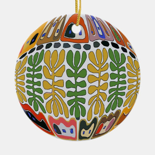 Fairgrounds, New Orleans Abstract Ceramic Ornament