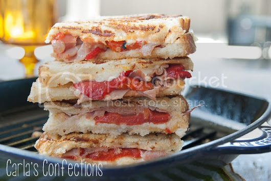 Carla's Confections: Roasted Red Pepper and Prosciutto Grilled Cheese
