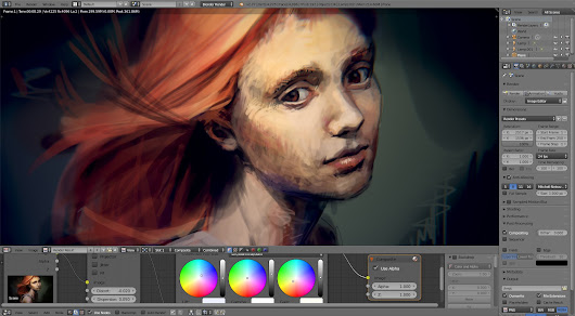 Portrait of a Girl using Blender paint tools - BlenderNation