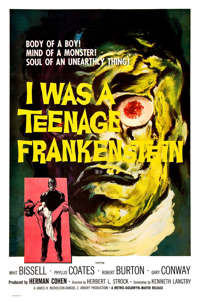 Albert Kallis - I Was a Teenage Frankenstein (MGM, 1957) One Sheet