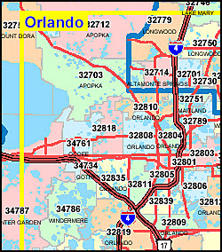 Orange County Florida Zip Code Map | Earth Map on