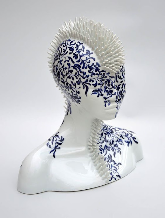 Juliette Clovis, porcelain sculptures -