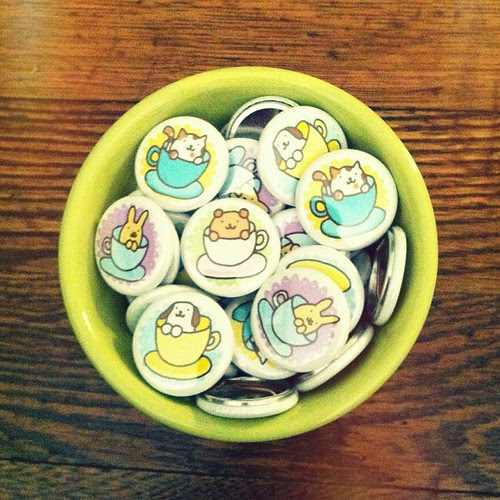 Teacup Animals Button Set that I made.