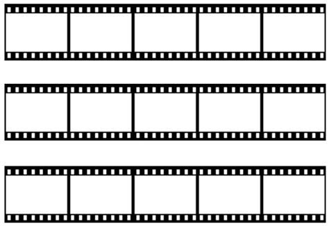Novelty Blank Film Strip A4 Edible Icing Cake Side Strips