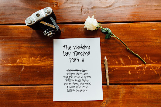 The Wedding Day Timeline Part II // Tips for Clients