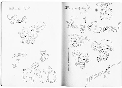 inspired doodles : cat01