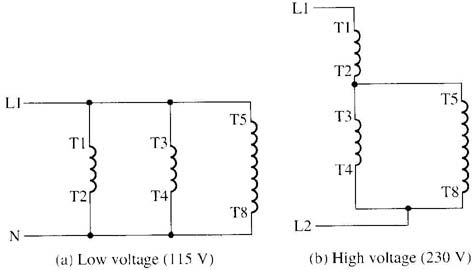 Changing Voltage Speeds Of Single Phase Motors