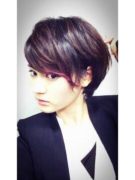 【図解あり】可愛すぎるポイントヘアカラーの世界!! Naverまとめ - ヘアカラーメッシュショート画像