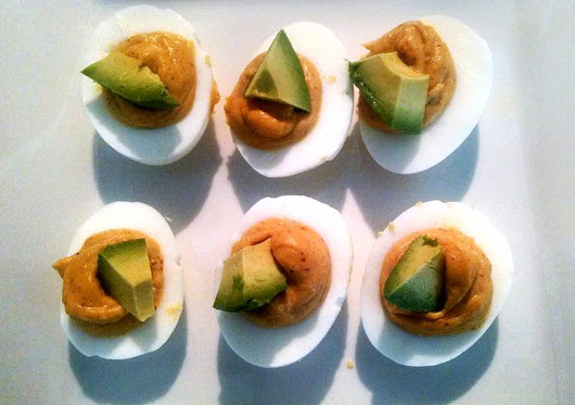 Chipotle Deviled Eggs with Avocado ~ Grain Free Guru