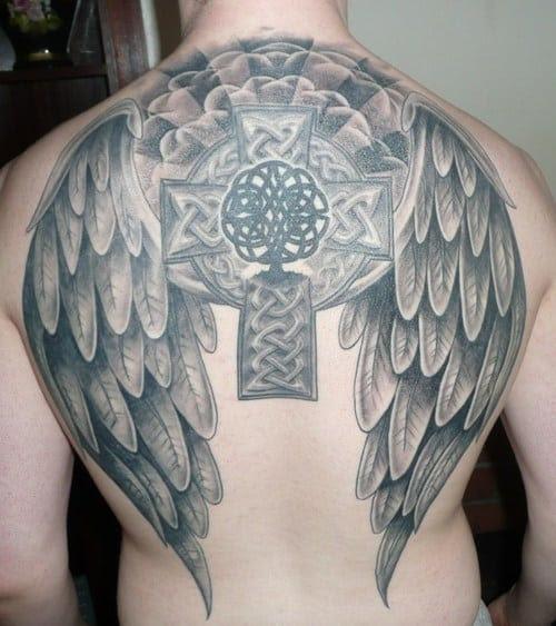 Celtic Cross Tattoos Angel Tattoo Tattoo Bytes