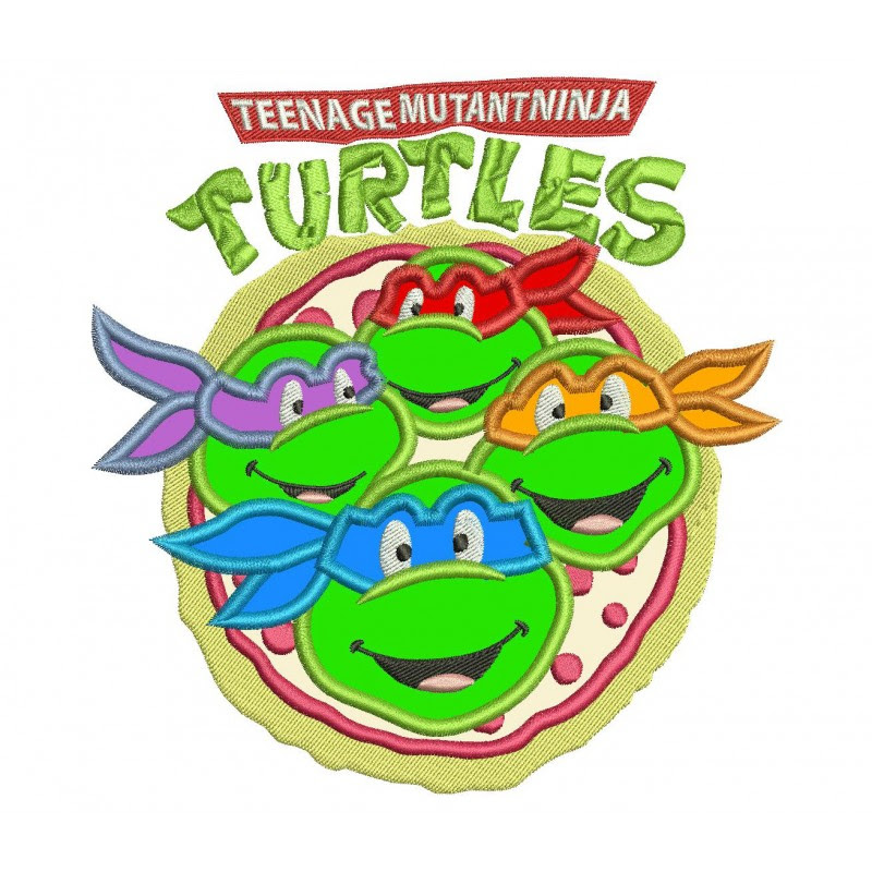 Ninja Turtles Applique Design