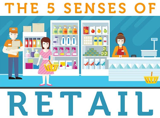 Visual Merchandising & the 5 Senses of Retail [Infographic]