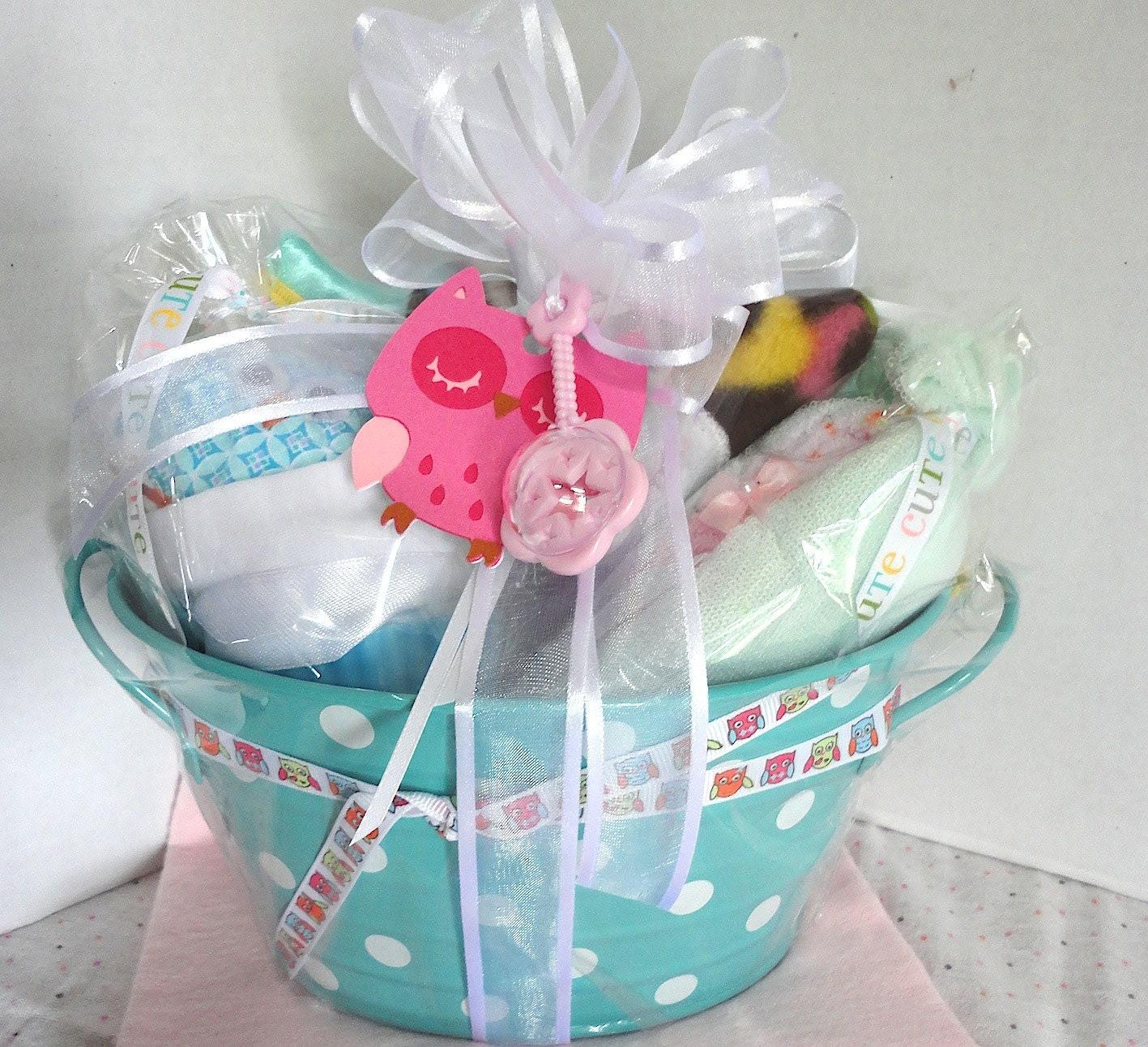 Owl Theme Baby Girl Gift Set,  Shower Gift - ManitaniCreations
