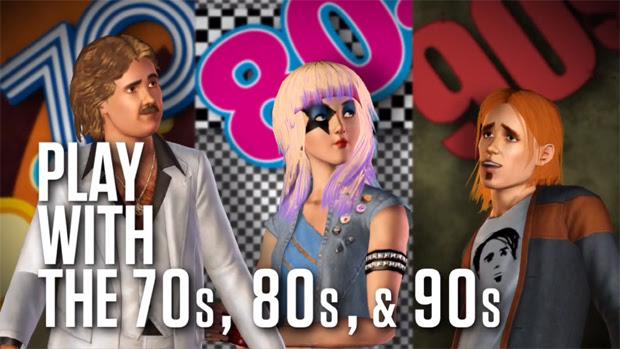 The Sims 3 70s, 80s, & 90s Stuff Pack é como viajar no tempo (Foto: Divulgação)