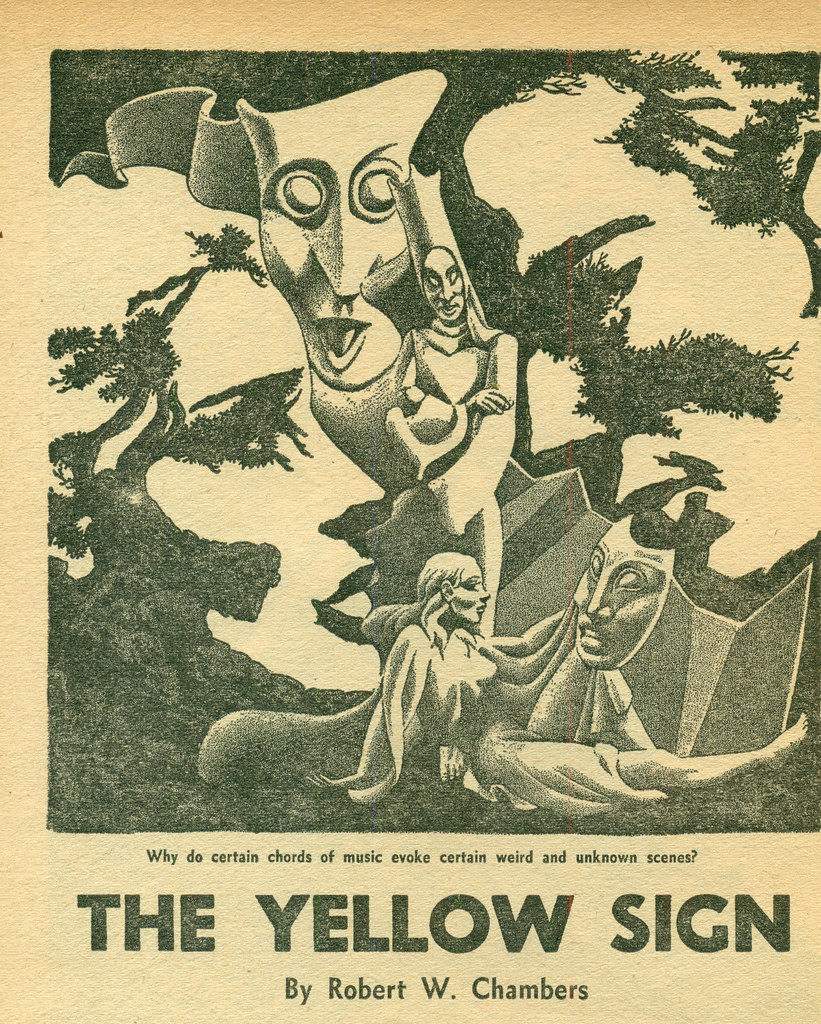Hannes Bok - Robert W Chambers - The Yellow Sign, 1943