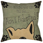 Am I Adopted Throw/ Floor Pillow Oversized 26 x 26
