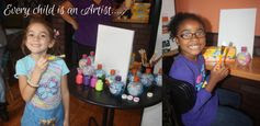 Kids Sip and Paint!  Fun times sponsored by @Crayola and @Aquaball! #Kids #SipandPaint
