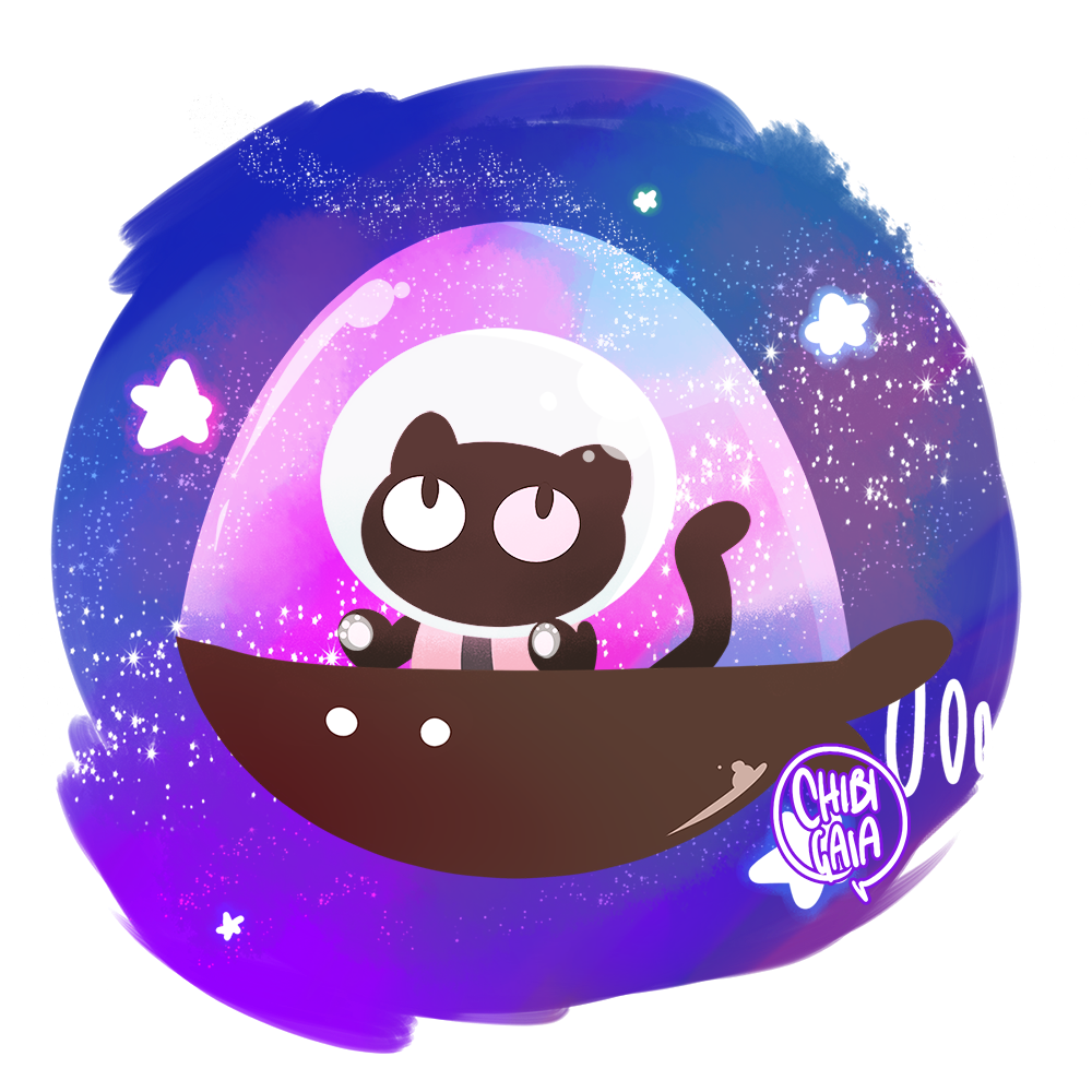 COOKIE CAT!!! He left his family behind… [Commissions] on [Society6] & [Redbubble]