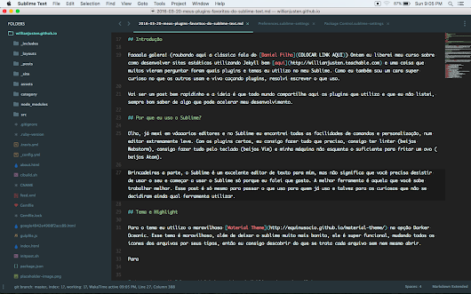 Meus plugins favoritos do Sublime Text