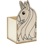 Bright Creations 8-Pack DIY Unfinished Wood Unicorn Box Kit for Painting and Crafts, 3.5 x 4 Inches