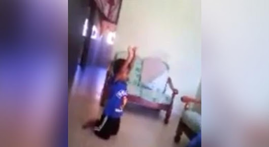 Someone Call The Cops! Abusive Father Beats Child While Mother Records And Approves!