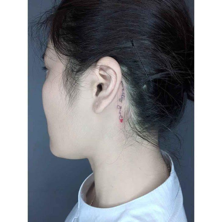 Behind The Ear Tattoo Best Tattoo Ideas Gallery