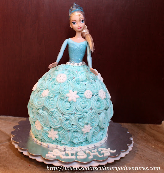 Elsa Doll Cake - My Culinary Adventures